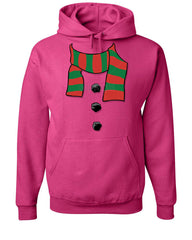 Snowman Scarf Hoodie Funny Christmas New Year Holidays Sweatshirt - Tee Hunt - 9