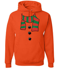 Snowman Scarf Hoodie Funny Christmas New Year Holidays Sweatshirt - Tee Hunt - 4