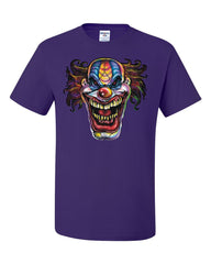Mad Evil Clown Face T-Shirt Scary Horror Insane Joker Tee Shirt