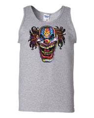 Mad Evil Clown Face Tank Top Scary Horror Insane Joker