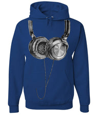 Huge Hanging Headphones Hoodie DJ Music Sweatshirt - Tee Hunt - 6