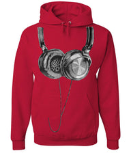 Huge Hanging Headphones Hoodie DJ Music Sweatshirt - Tee Hunt - 5