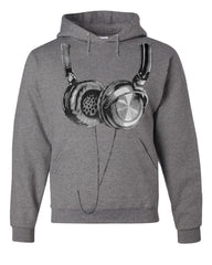Huge Hanging Headphones Hoodie DJ Music Sweatshirt - Tee Hunt - 7