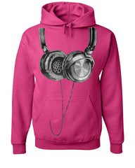 Huge Hanging Headphones Hoodie DJ Music Sweatshirt - Tee Hunt - 9