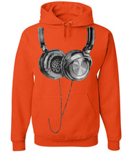 Huge Hanging Headphones Hoodie DJ Music Sweatshirt - Tee Hunt - 4