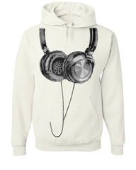 Huge Hanging Headphones Hoodie DJ Music Sweatshirt - Tee Hunt - 8