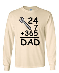 DAD 24 7 365 Long Sleeve T-Shirt Funny Dad Gift Father's Day - Tee Hunt - 6