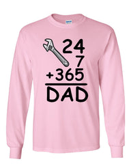 DAD 24 7 365 Long Sleeve T-Shirt Funny Dad Gift Father's Day - Tee Hunt - 8