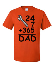 DAD 24 7 365 T-Shirt Funny Dad Gift Father's Day Tee Shirt - Tee Hunt - 2