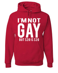 I'm Not Gay But $20 Is $20 Hoodie Funny Sweatshirt - Tee Hunt - 5