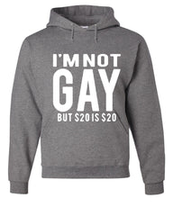 I'm Not Gay But $20 Is $20 Hoodie Funny Sweatshirt - Tee Hunt - 7