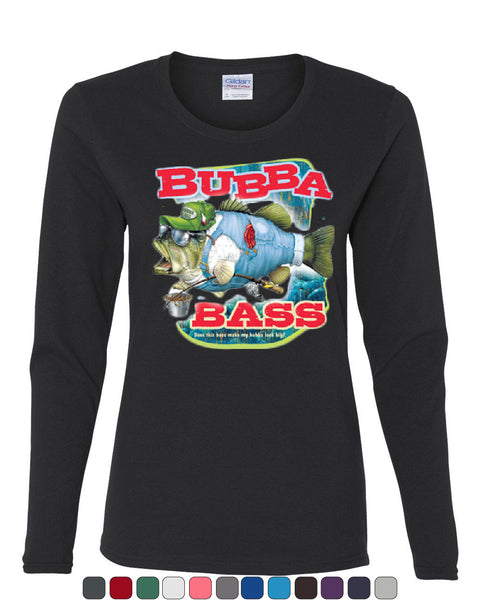 Bubba Bass Long Sleeve T-Shirt Funny Fishing - Tee Hunt - 1
