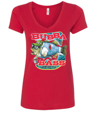Bubba Bass V-Neck T-Shirt Funny Fishing - Tee Hunt - 3