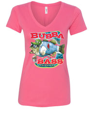 Bubba Bass V-Neck T-Shirt Funny Fishing - Tee Hunt - 6