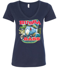 Bubba Bass V-Neck T-Shirt Funny Fishing - Tee Hunt - 12