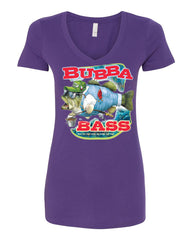 Bubba Bass V-Neck T-Shirt Funny Fishing - Tee Hunt - 11
