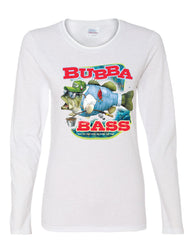 Bubba Bass Long Sleeve T-Shirt Funny Fishing - Tee Hunt - 3