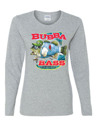 Bubba Bass Long Sleeve T-Shirt Funny Fishing - Tee Hunt - 4