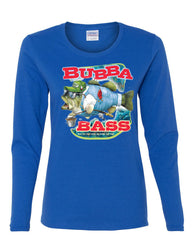 Bubba Bass Long Sleeve T-Shirt Funny Fishing - Tee Hunt - 5