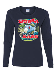 Bubba Bass Long Sleeve T-Shirt Funny Fishing - Tee Hunt - 7