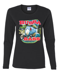 Bubba Bass Long Sleeve T-Shirt Funny Fishing - Tee Hunt - 2