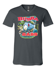 Bubba Bass V-Neck T-Shirt Funny Fishing Tee - Tee Hunt - 5