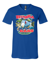 Bubba Bass V-Neck T-Shirt Funny Fishing Tee - Tee Hunt - 12
