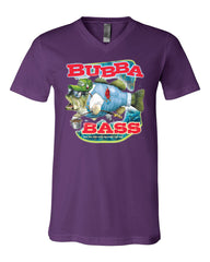 Bubba Bass V-Neck T-Shirt Funny Fishing Tee - Tee Hunt - 8