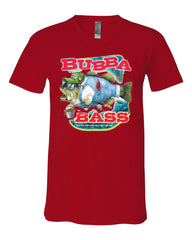 Bubba Bass V-Neck T-Shirt Funny Fishing Tee - Tee Hunt - 10