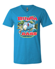 Bubba Bass V-Neck T-Shirt Funny Fishing Tee - Tee Hunt - 11