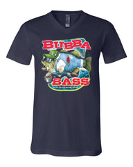 Bubba Bass V-Neck T-Shirt Funny Fishing Tee - Tee Hunt - 6