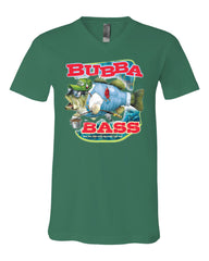 Bubba Bass V-Neck T-Shirt Funny Fishing Tee - Tee Hunt - 7