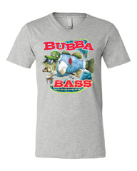Bubba Bass V-Neck T-Shirt Funny Fishing Tee - Tee Hunt - 4