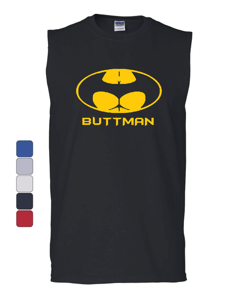 Buttman Funny Parody Muscle Shirt Humor Booty Ass Drinking