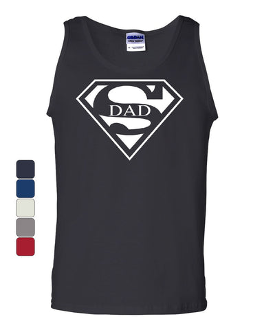 Super Dad Tank Top Funny Superhero Father's Day Muscle Shirt