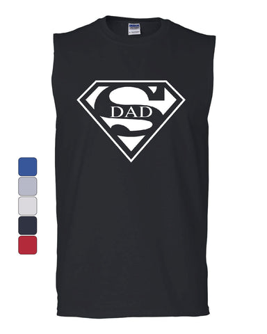 Super Dad Muscle Shirt Funny Superhero Father's Day - Tee Hunt - 1