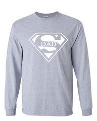 Super Dad Long Sleeve T-Shirt Funny Superhero Father's Day - Tee Hunt - 3