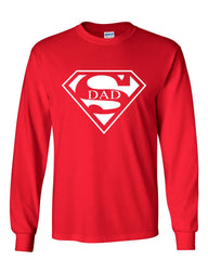 Super Dad Long Sleeve T-Shirt Funny Superhero Father's Day - Tee Hunt - 5
