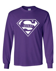 Super Dad Long Sleeve T-Shirt Funny Superhero Father's Day - Tee Hunt - 6