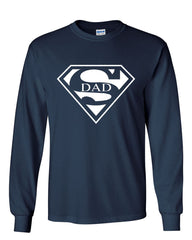 Super Dad Long Sleeve T-Shirt Funny Superhero Father's Day - Tee Hunt - 7