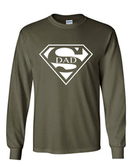 Super Dad Long Sleeve T-Shirt Funny Superhero Father's Day - Tee Hunt - 8