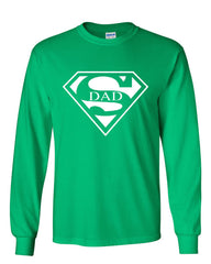 Super Dad Long Sleeve T-Shirt Funny Superhero Father's Day - Tee Hunt - 9
