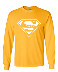 Super Dad Long Sleeve T-Shirt Funny Superhero Father's Day - Tee Hunt - 10