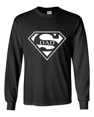 Super Dad Long Sleeve T-Shirt Funny Superhero Father's Day - Tee Hunt - 2