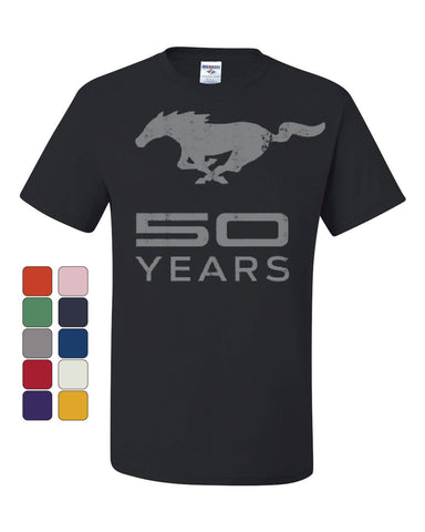 Ford Mustang 50 Years T-Shirt Anniversary Licensed Tee Shirt - Tee Hunt - 1