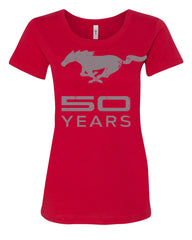 Ford Mustang 50 Years T-Shirt Anniversary Licensed Tee Shirt - Tee Hunt - 3