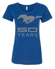 Ford Mustang 50 Years T-Shirt Anniversary Licensed Tee Shirt - Tee Hunt - 4