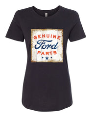 Genuine Ford Parts Old Sign T-Shirt Licensed Ford Truck Tee Shirt
