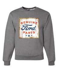 Genuine Ford Parts Old Sign Crew Neck Sweatshirt Licensed Ford Truck