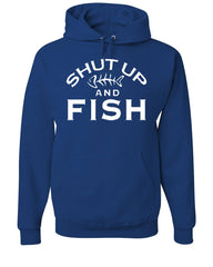 Shut Up And Fish Hoodie Funny Fishing Sweatshirt - Tee Hunt - 6